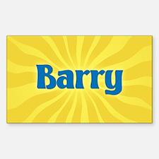 Barry Sunburst Oval Decal