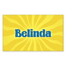 Belinda Sunburst Oval Decal