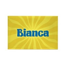 Bianca Sunburst Rectangle Magnet