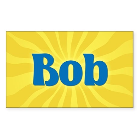 Bob Sunburst Rectangle Sticker