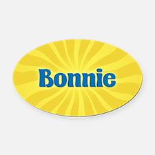 Bonnie Sunburst Oval Car Magnet