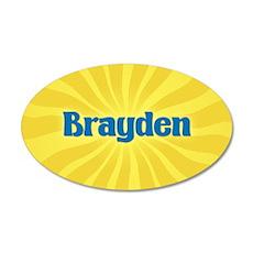 Brayden Sunburst 20x12 Oval Wall Decal