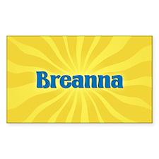 Breanna Sunburst Oval Decal