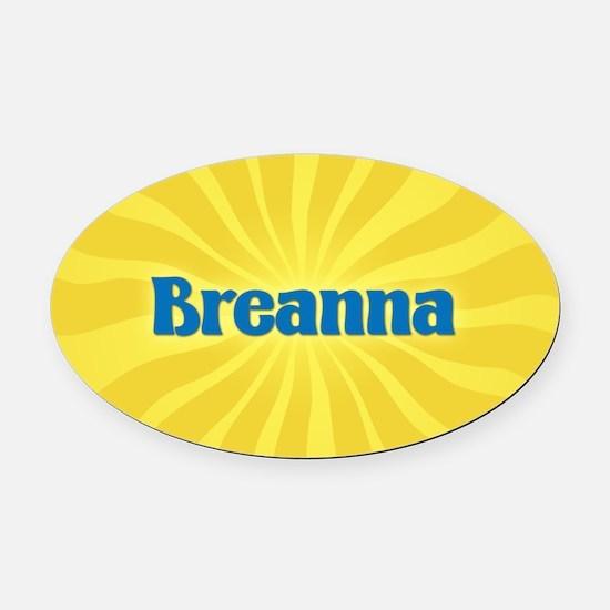 Breanna Sunburst Oval Car Magnet