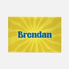 Brendan Sunburst Rectangle Magnet