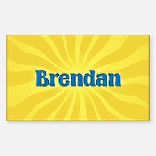 Brendan Sunburst Oval Decal