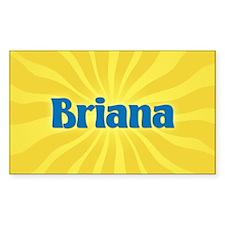 Briana Sunburst Oval Decal