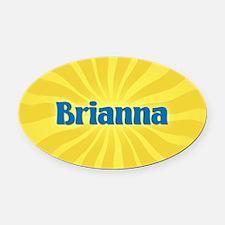Brianna Sunburst Oval Car Magnet