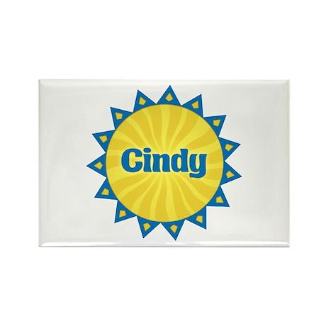 Cindy Sunburst Rectangle Magnet