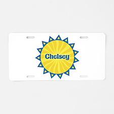 Chelsey Sunburst Aluminum License Plate