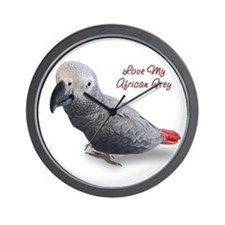 Cute Parrot christmas Wall Clock