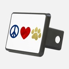 Peace Love Paw Print Hitch Cover