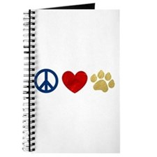 Peace Love Paw Print Journal