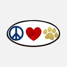 Peace Love Paw Print Patches