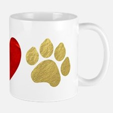 Peace Love Paw Print Mug