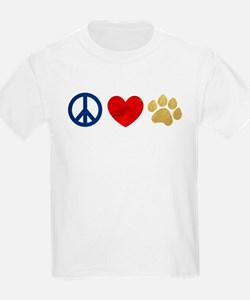 Peace Love Paw Print T-Shirt