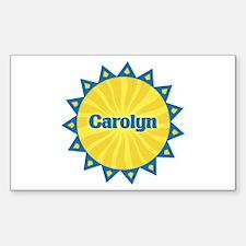 Carolyn Sunburst Rectangle Decal