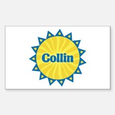 Collin Sunburst Rectangle Decal