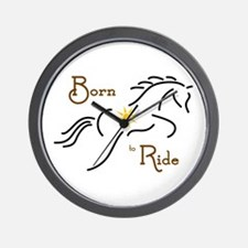 Born to Ride - Wall Clock