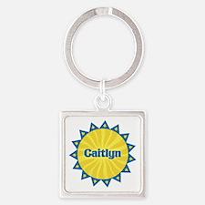 Caitlyn Sunburst Square Keychain