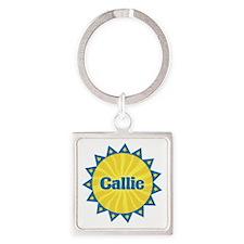 Callie Sunburst Square Keychain