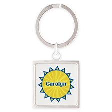 Carolyn Sunburst Square Keychain