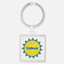 Colleen Sunburst Square Keychain