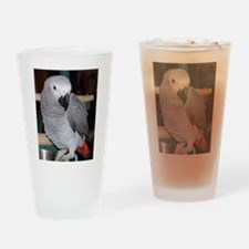 Funny African grey Drinking Glass