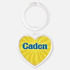Caden Sunburst Heart Keychain