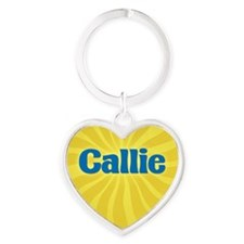 Callie Sunburst Heart Keychain