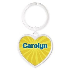 Carolyn Sunburst Heart Keychain