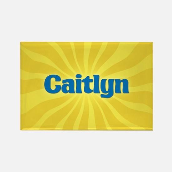 Caitlyn Sunburst Rectangle Magnet