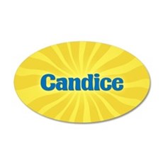 Candice Sunburst 20x12 Oval Wall Decal