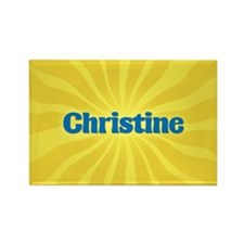 Christine Sunburst Rectangle Magnet