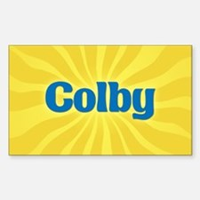 Colby Sunburst Oval Decal