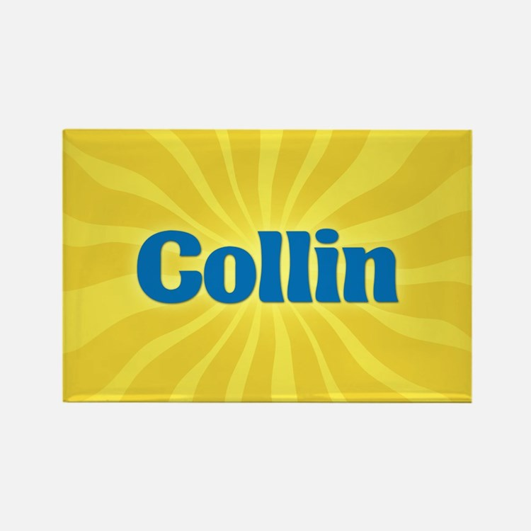 Collin Sunburst Rectangle Magnet