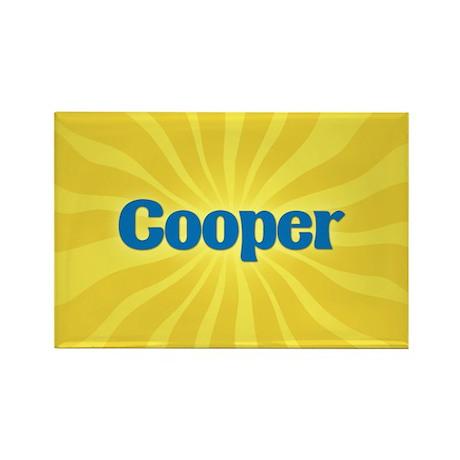 Cooper Sunburst Rectangle Magnet