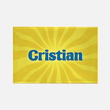 Cristian Sunburst Rectangle Magnet