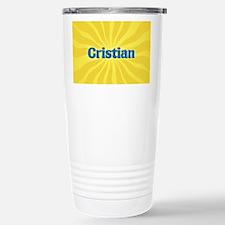 Cristian Sunburst Stainless Steel Travel Mug
