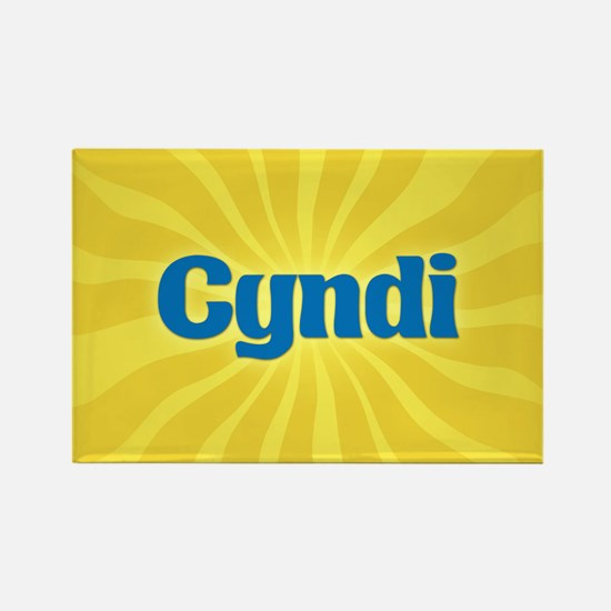 Cyndi Sunburst Rectangle Magnet