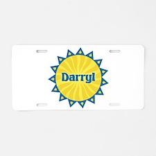 Darryl Sunburst Aluminum License Plate