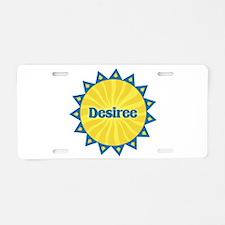 Desiree Sunburst Aluminum License Plate