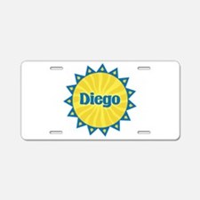 Diego Sunburst Aluminum License Plate