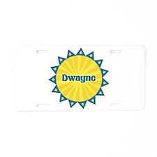 Dwayne Sunburst Aluminum License Plate
