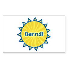 Darrell Sunburst Rectangle Decal