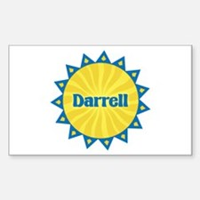 Darrell Sunburst Rectangle Decal