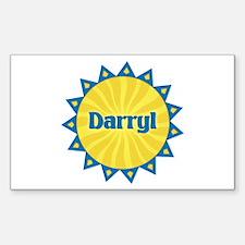 Darryl Sunburst Rectangle Decal