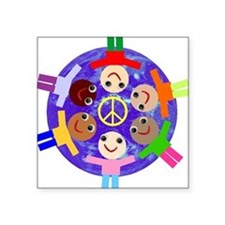 World Peace Rectangle Sticker