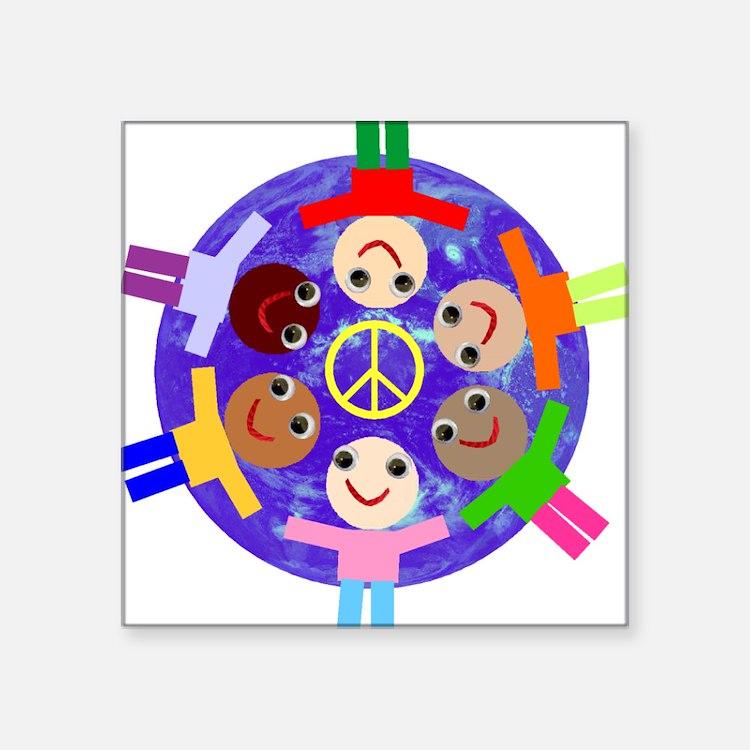 World Peace Rectangle Sticker