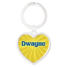 Dwayne Sunburst Heart Keychain